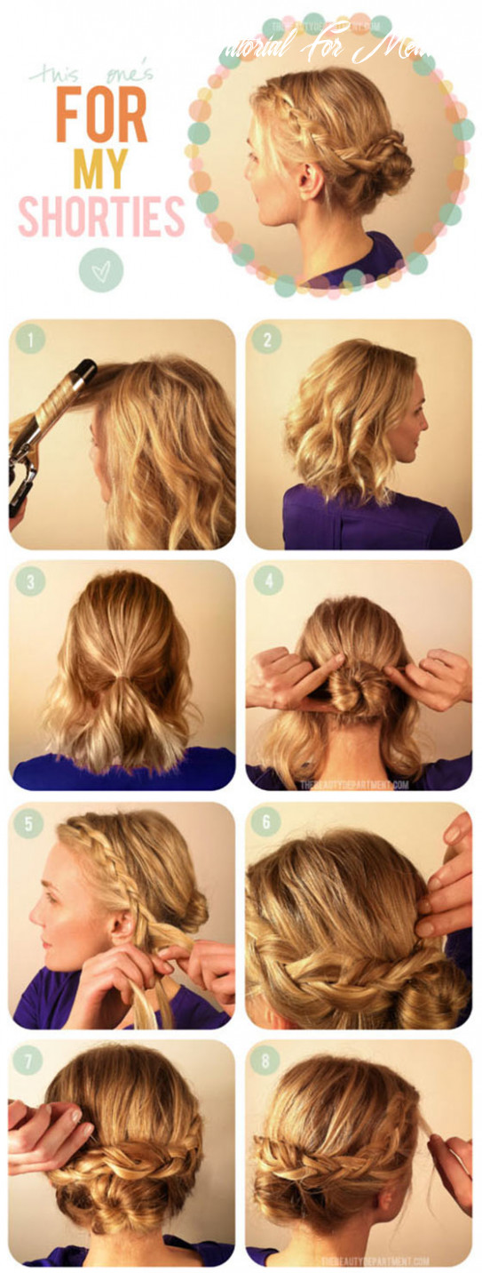 12 quick and easy updos for medium hair updo hairstyle tutorial for medium hair