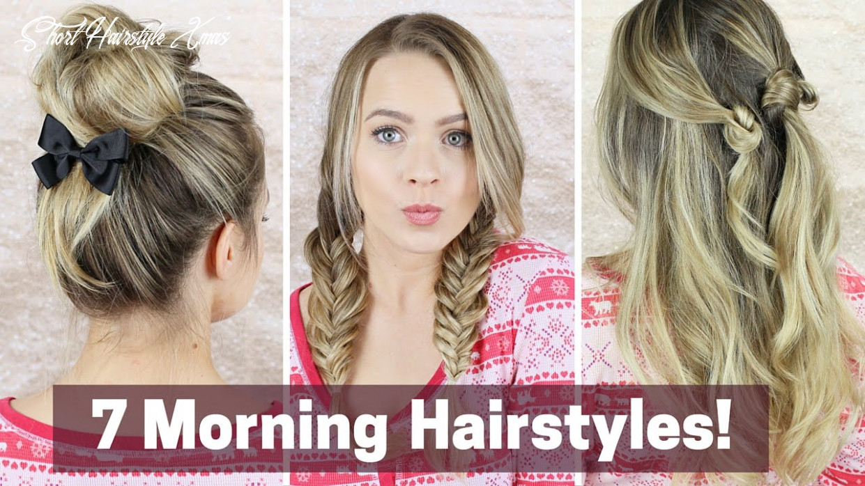 12 quick morning hairstyles! short hairstyle xmas