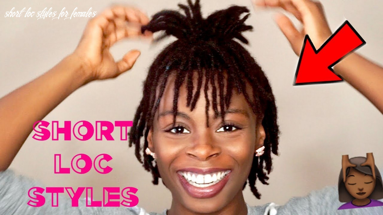12 short easy loc styles 👍🏾 | cute hairstyles for short dreads ✨ | #darrencetv short loc styles for females