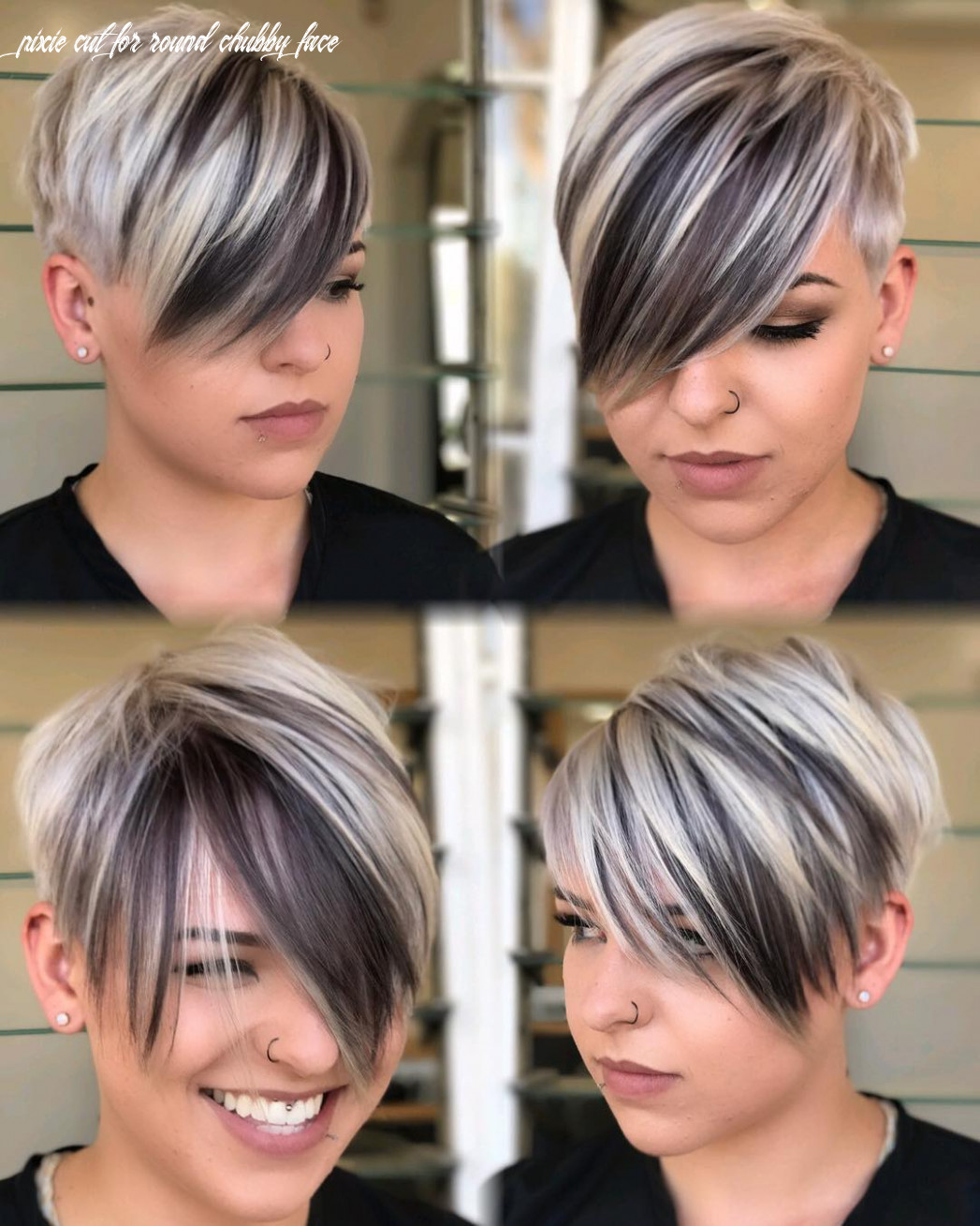 12 short hairstyles for round faces with slimming effect hadviser pixie cut for round chubby face
