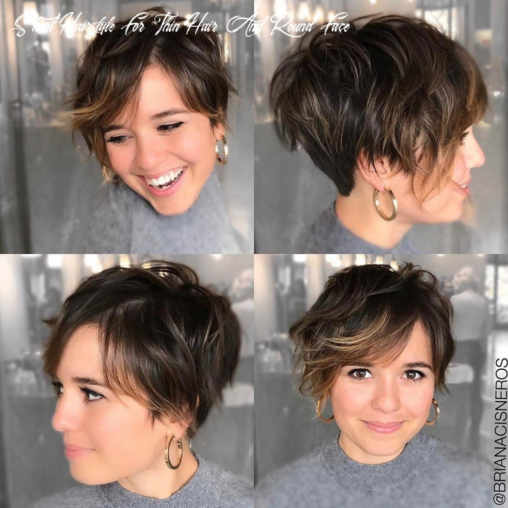 12 short hairstyles for round faces with slimming effect hadviser short hairstyle for thin hair and round face