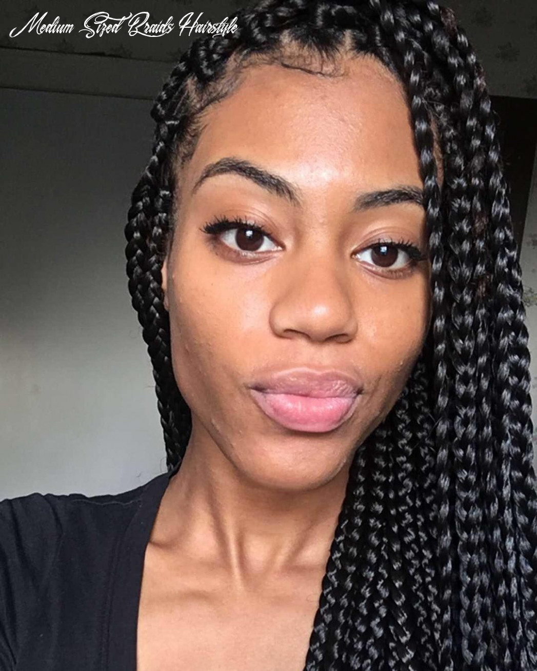 12 stunning medium box braids experiment with loved one