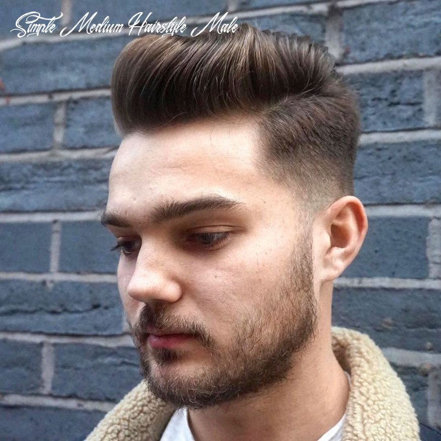 12 stylish medium hairstyles for men to get now 1219 | stylostreet simple medium hairstyle male