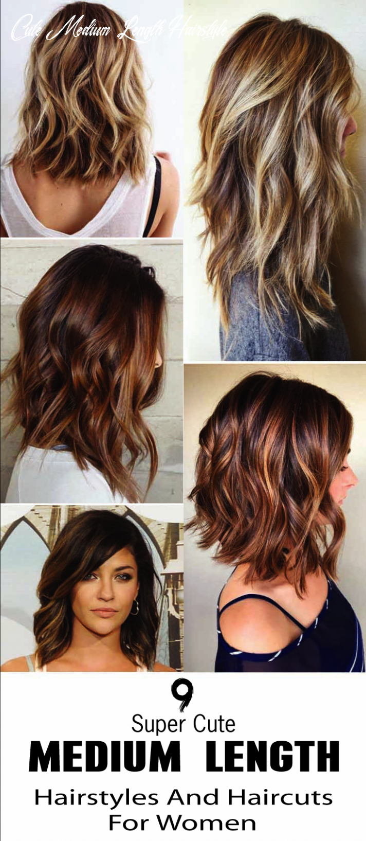 12 Super Cute Medium Length Hairstyles And Haircuts For Women ...