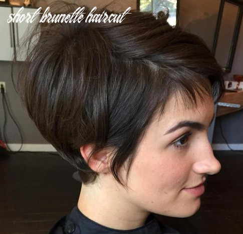 12 trendiest short brown hairstyles and haircuts to try short brunette haircut