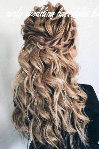 12 wedding hairstyles half up half down with curls and braid