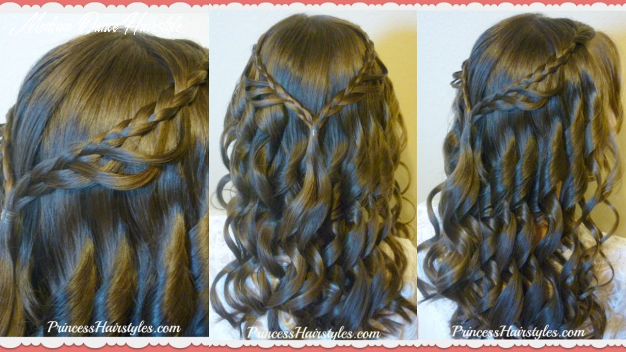 12th Grade Dance Hairstyle Tutorial and Dress! Princess Hairstyles