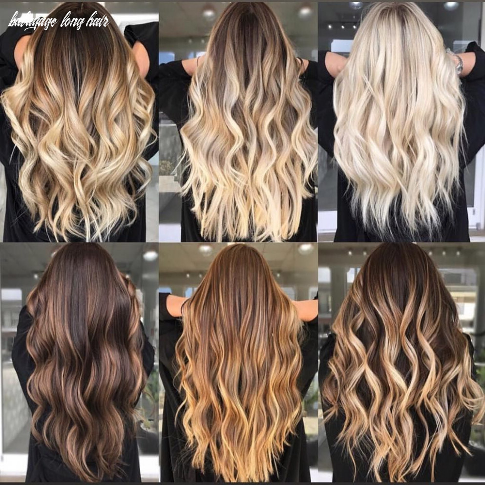 8 balayage brown to blonde long hairstyles | frisyrer, brunt hår