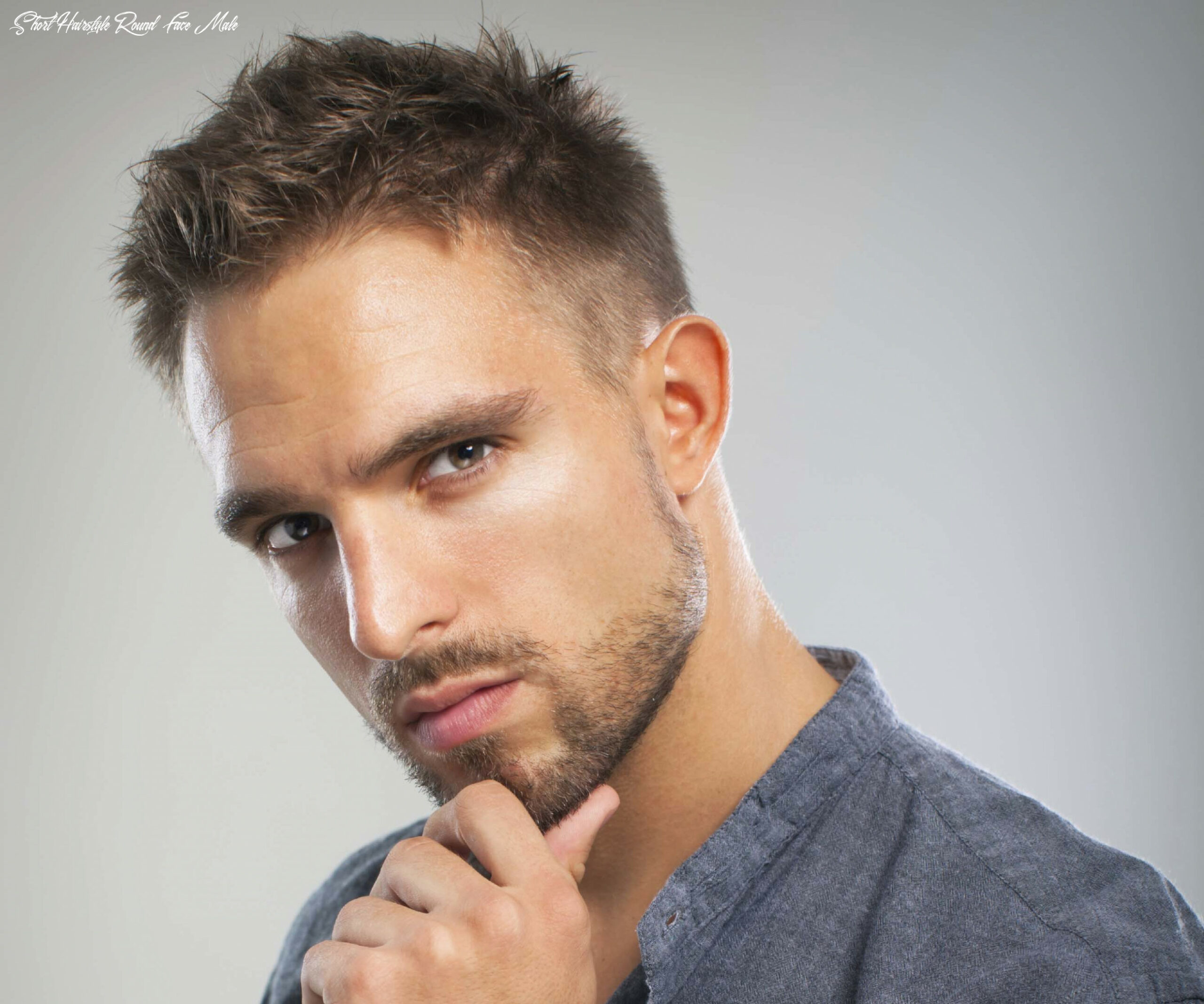 8 best hairstyles and haircuts for men with round faces   (8) short hairstyle round face male