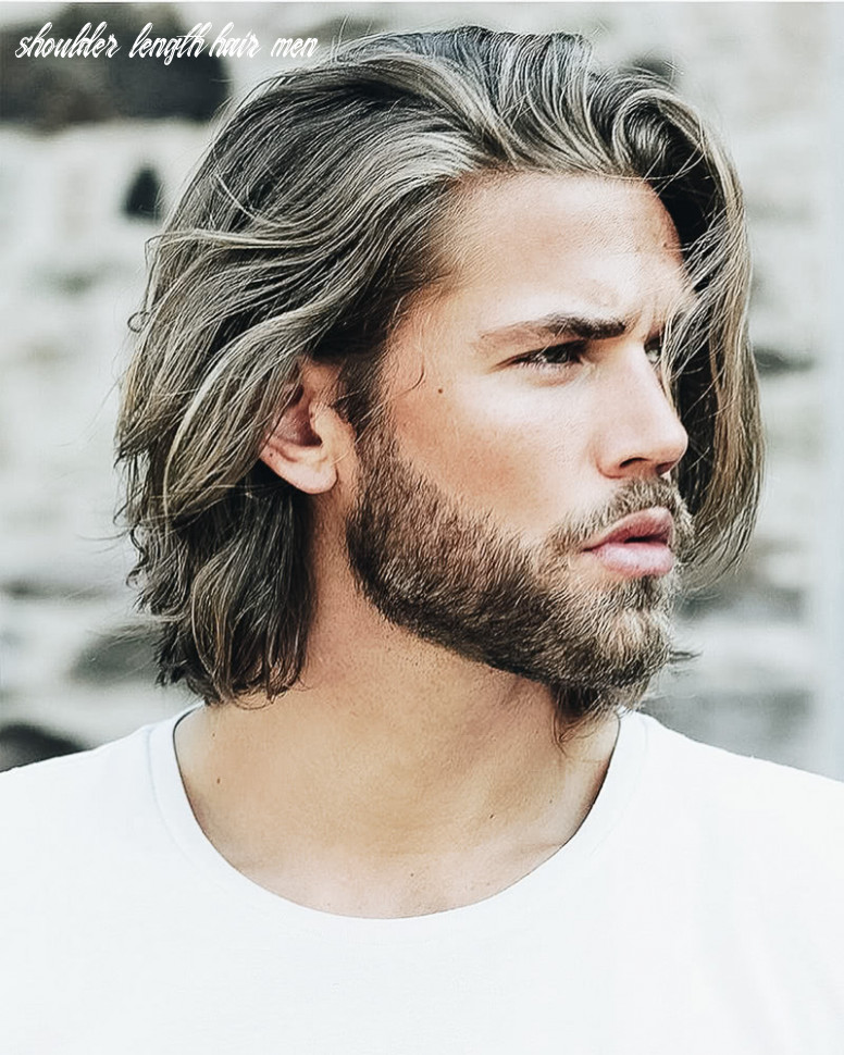 8 best medium length haircuts for men and how to style them shoulder length hair men