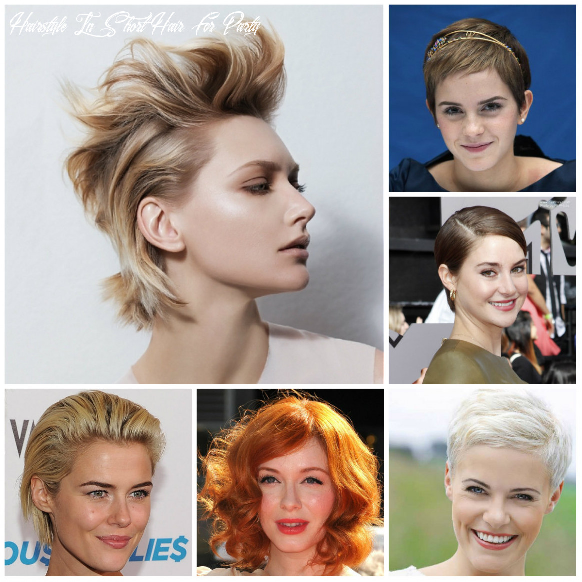 8 best party hairstyles for short haircuts   8 haircuts