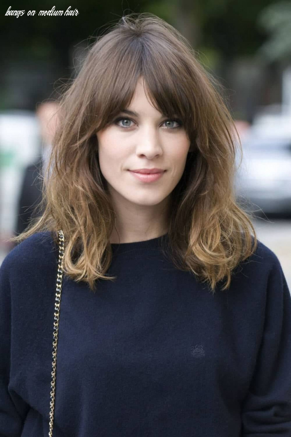 8 breezy hairstyles with bangs to make you shine in 8 bangs on medium hair