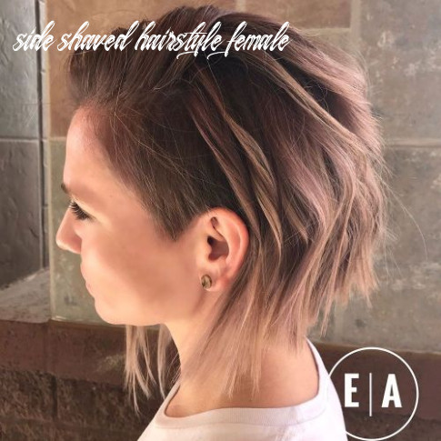 8 cute shaved hairstyles for women side shaved hairstyle female