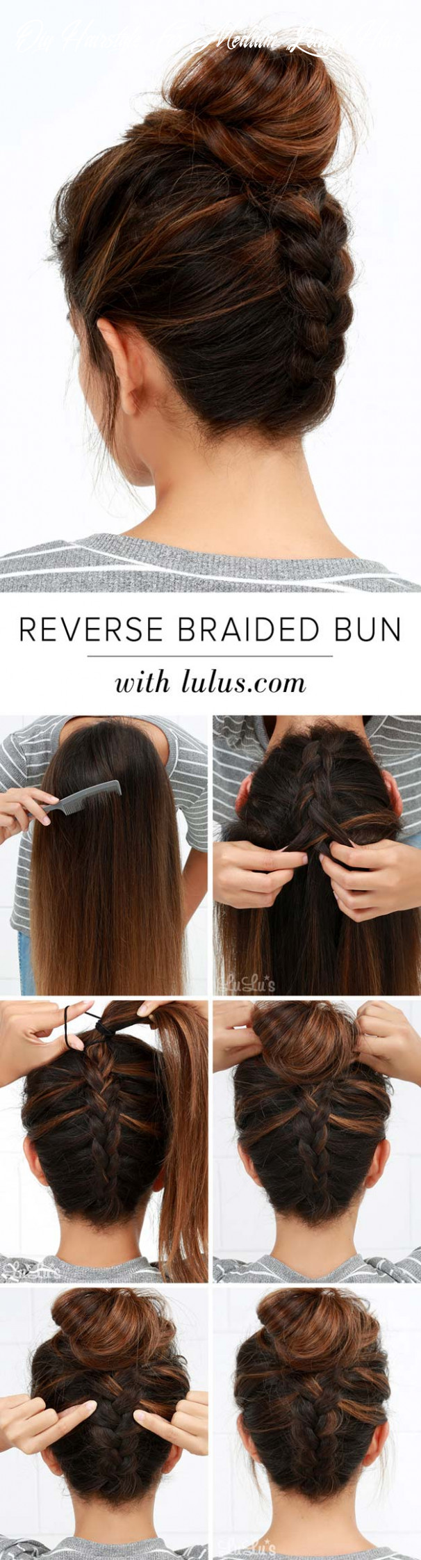 8 diy cool easy hairstyles that real people can actually do at home! diy hairstyle for medium length hair