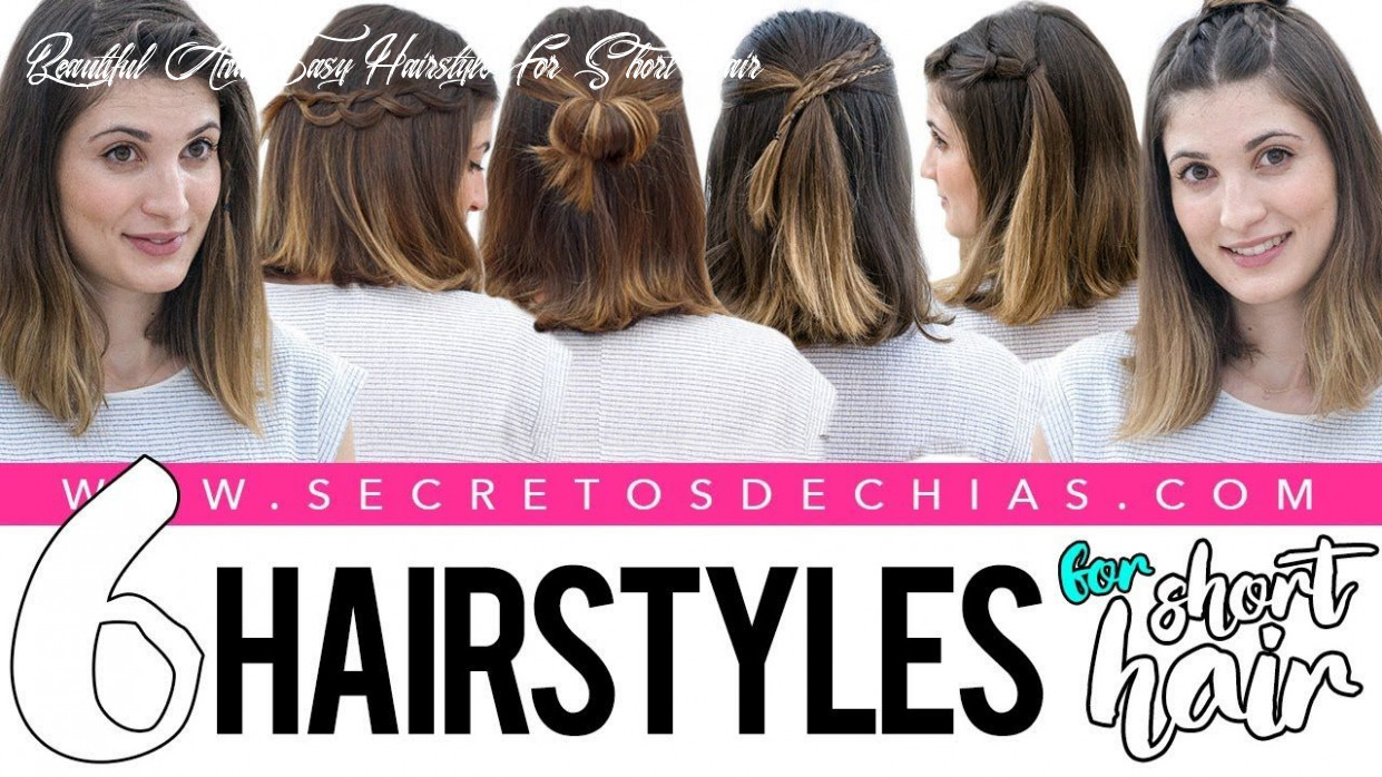 8 easy and beautiful hairstyles for short hair youtube