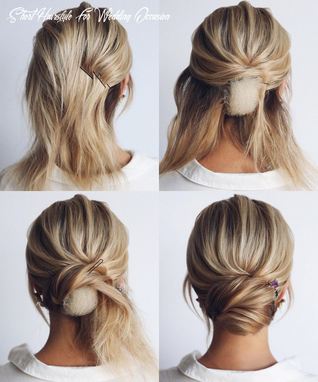 8 easy and cute hair tutorials for any occasion | short wedding