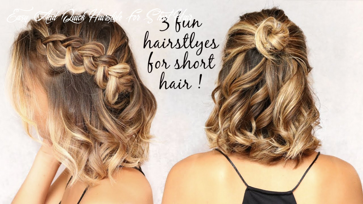 8 easy hairstyles for short hair!