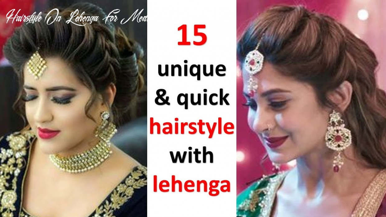 8 easy hairstyles with lehenga || hair style girl || updo hairstyles || prom hairstyles | hairstyle hairstyle on lehenga for medium hair