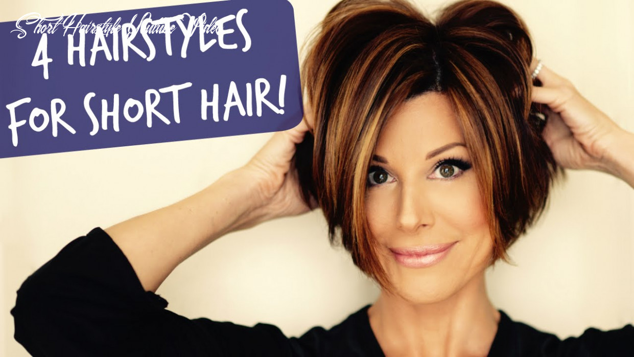 8 easy short hairstyles that will make you want a bob! short hairstyle youtube video