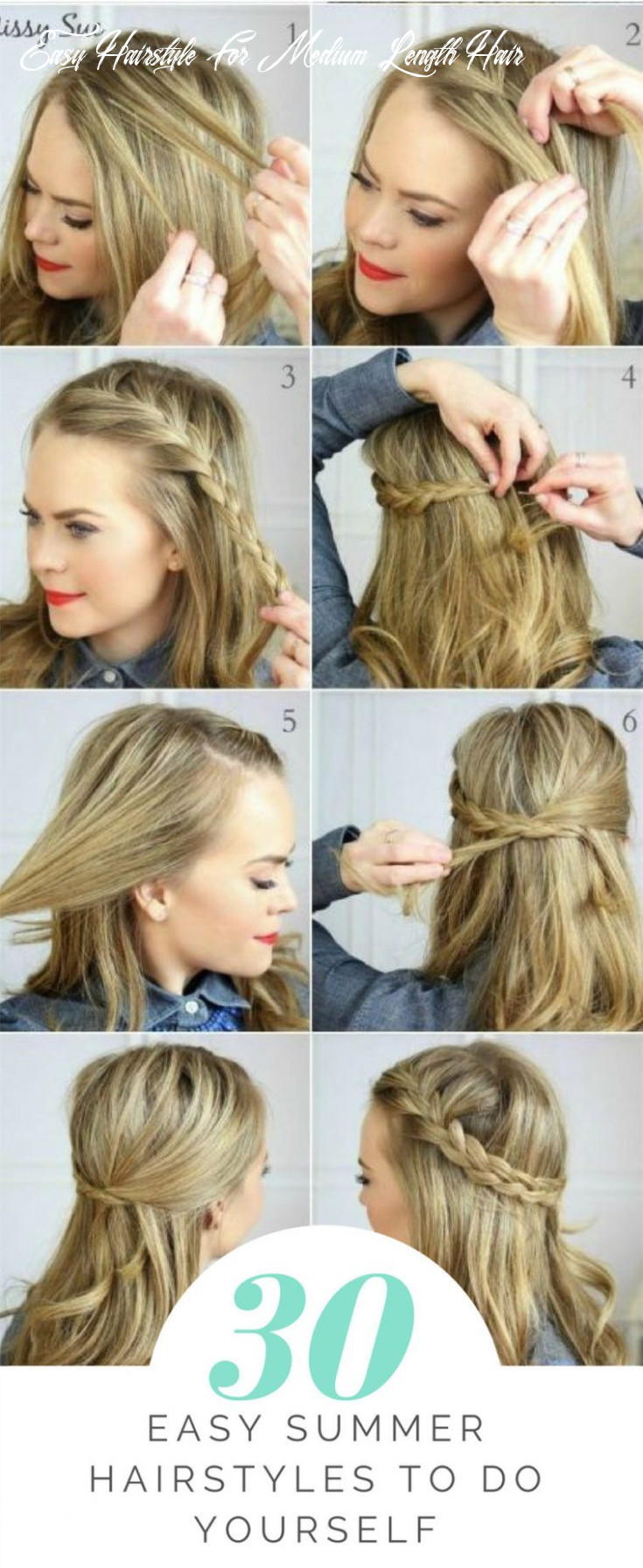 8 easy summer hairstyles to do yourself | cute everyday