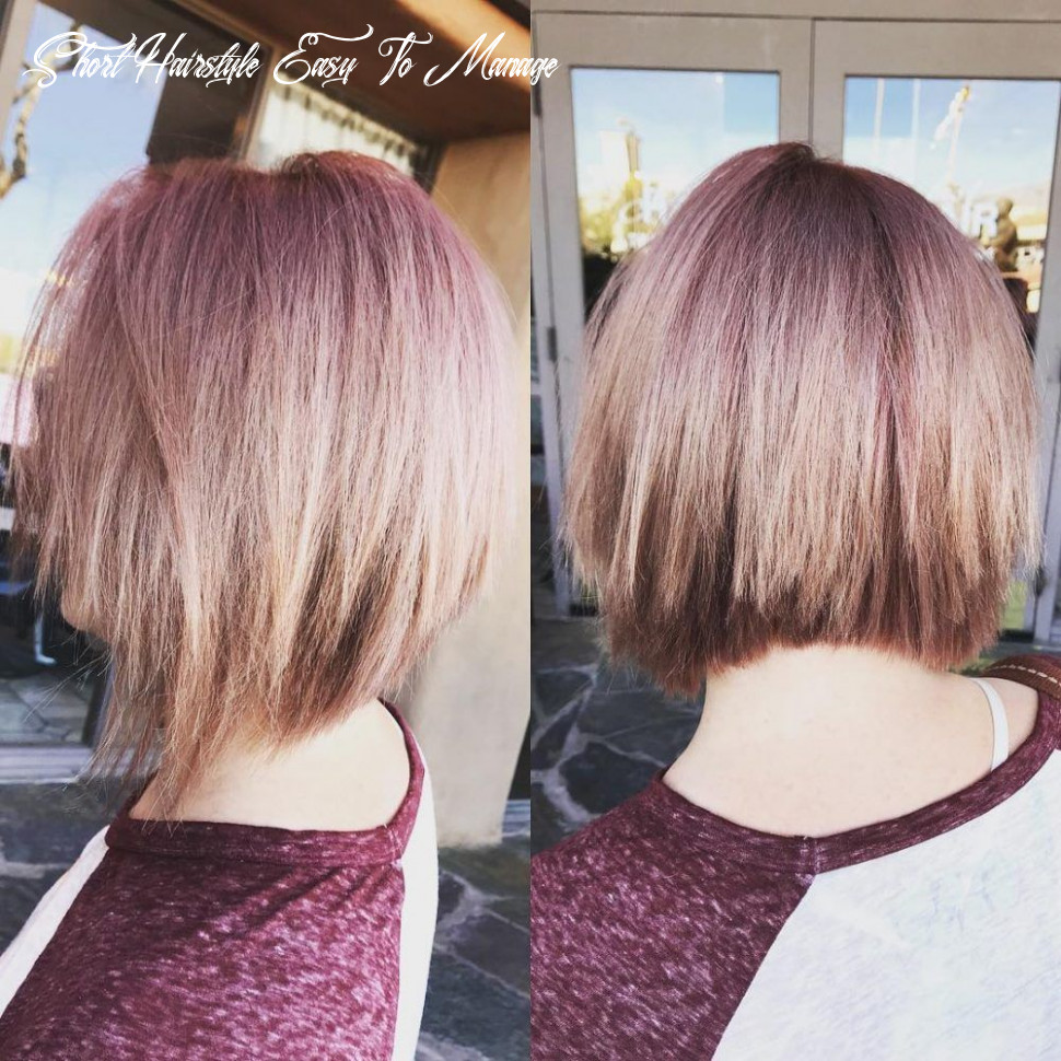 8 easy to manage short hairstyles for fine hair | bob hairstyles short hairstyle easy to manage