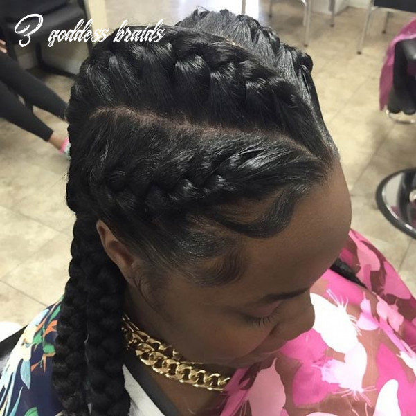 8 goddess braids hairstyles for black women | page 8 of 8 | stayglam 3 goddess braids