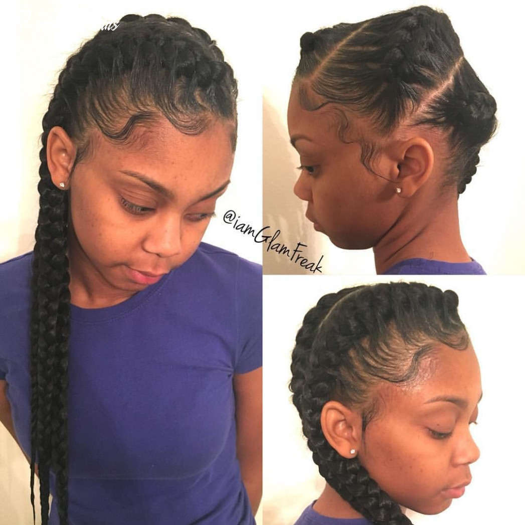 8 goddess braids to the side! | goddess braids, natural hair