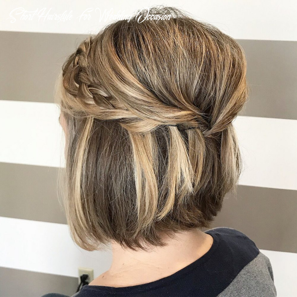 8 gorgeous wedding hairstyles for short hair this year short hairstyle for wedding occasion