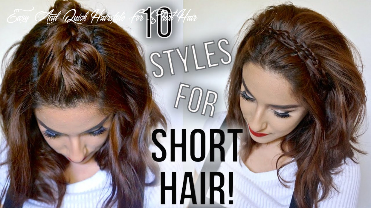 8 hairstyles for short hair // quick & easy // how i style my short hair    claribella easy and quick hairstyle for short hair