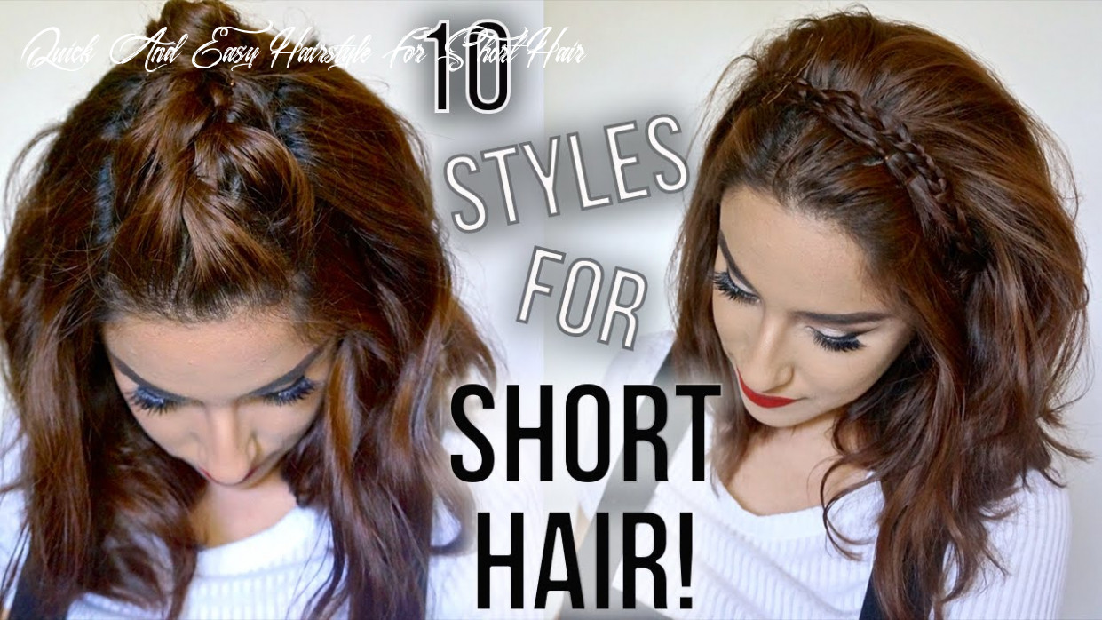 8 hairstyles for short hair // quick & easy // how i style my short hair || claribella quick and easy hairstyle for short hair