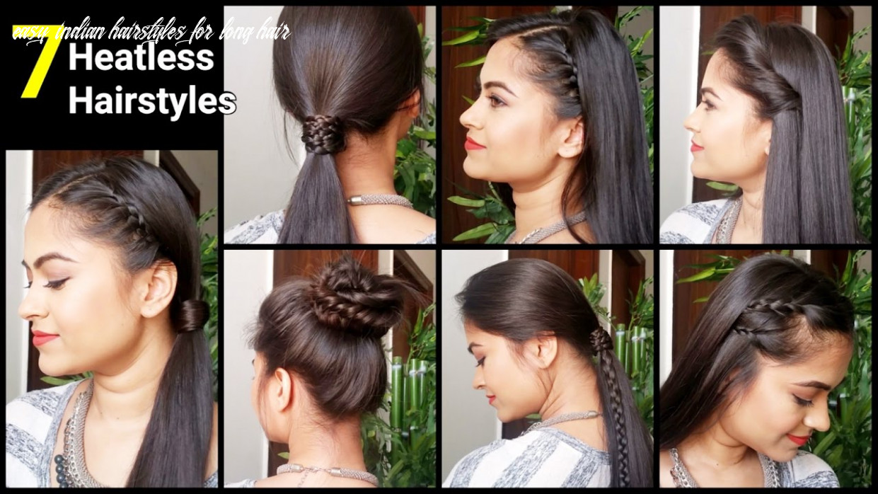 8 HEATLESS Hairstyles, Quick&Easy everyday Hairstyles for medium/long  hair//Indian hairstyles