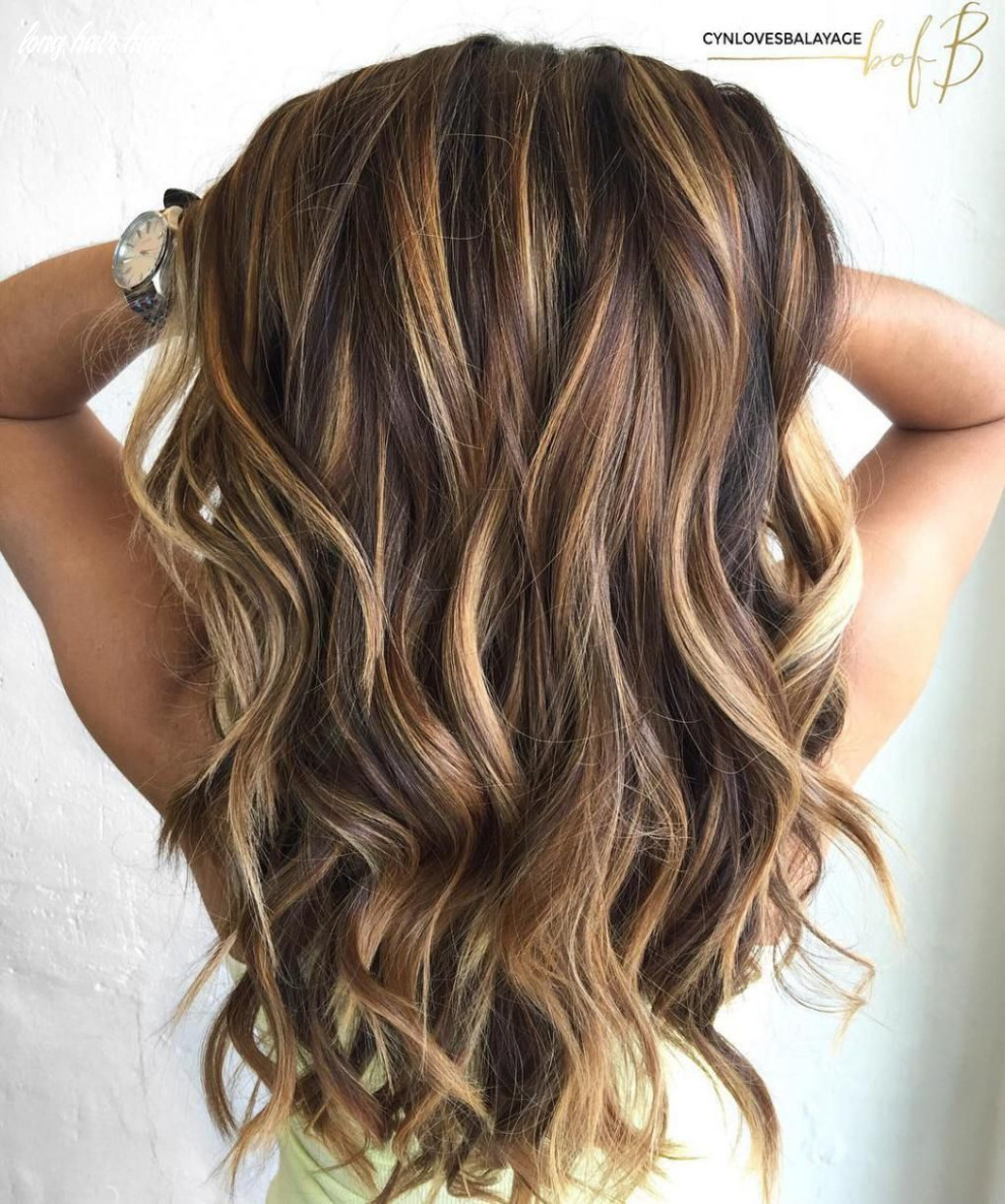 8 looks with caramel highlights on brown and dark brown hair