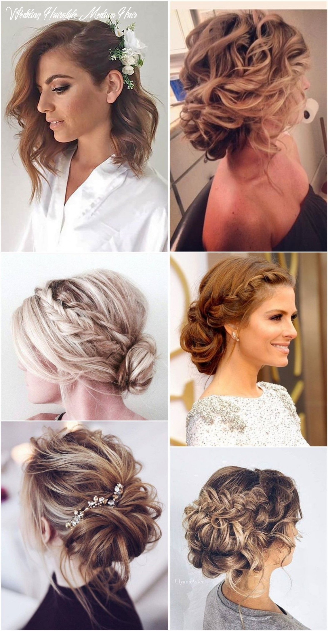 8 lovely medium length hairstyles for 8 weddings