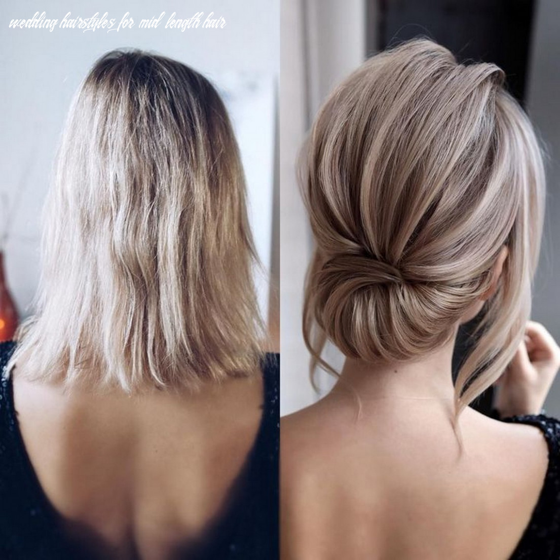 8 Medium Length Wedding Hairstyles for 8 Brides ~ INSPIRA