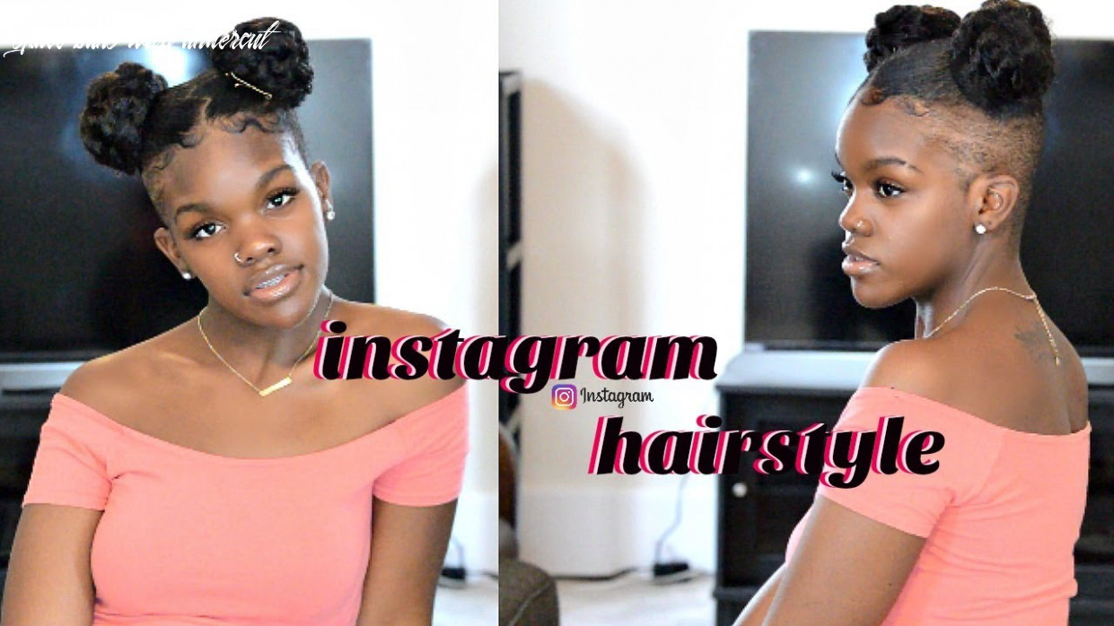 8 minute trendy natural hairstyle! (spacebuns) undercut space buns with undercut
