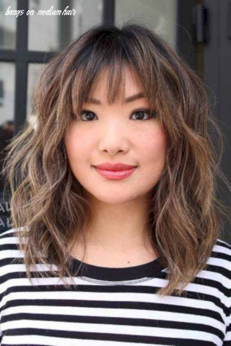 8 modern medium hairstyles with bangs for a new look | bangs with