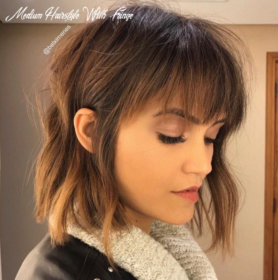8 perfect medium length hairstyles for thin hair | bangs with