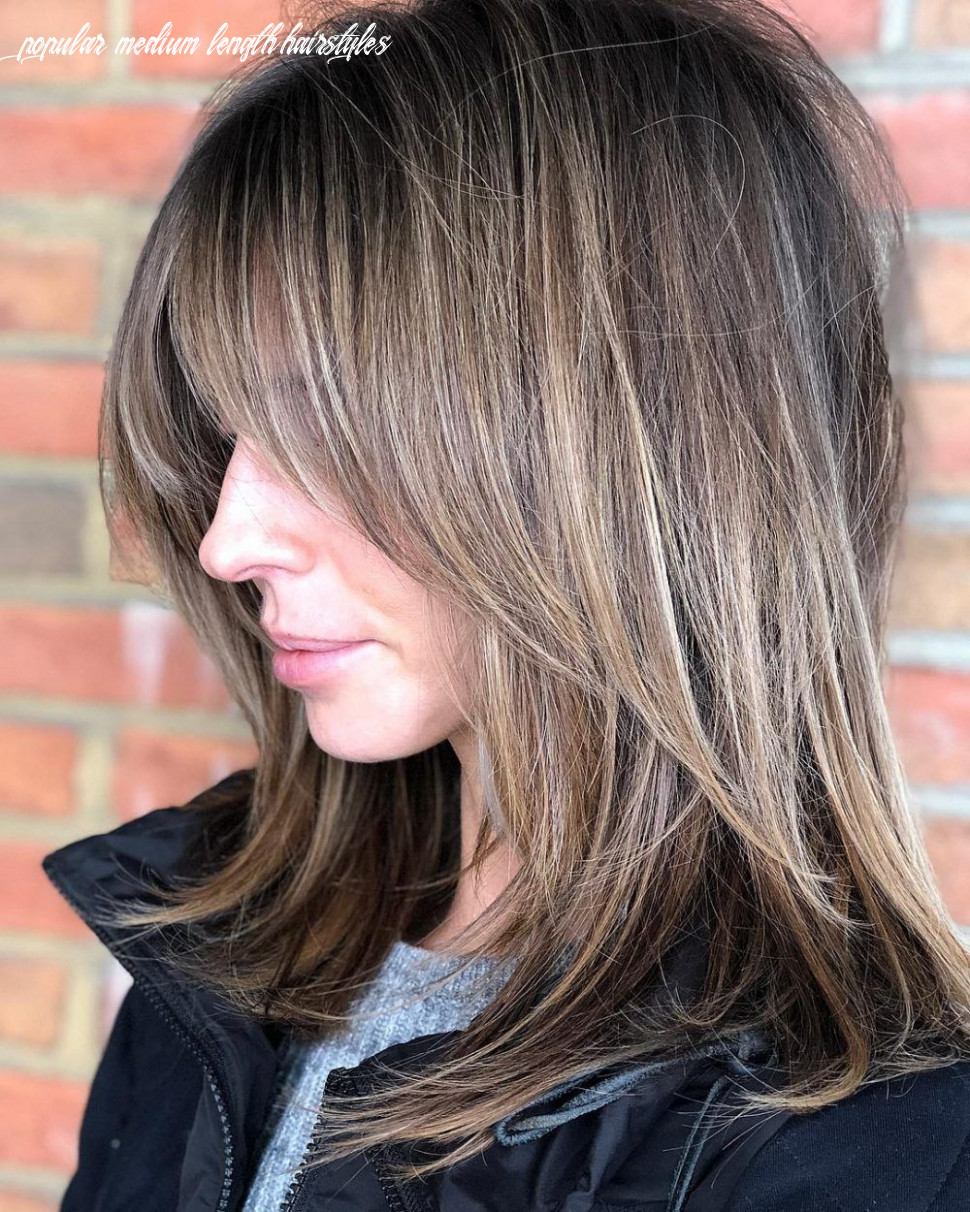 8 popular medium length hairstyles with bangs in 8 | Волосы с