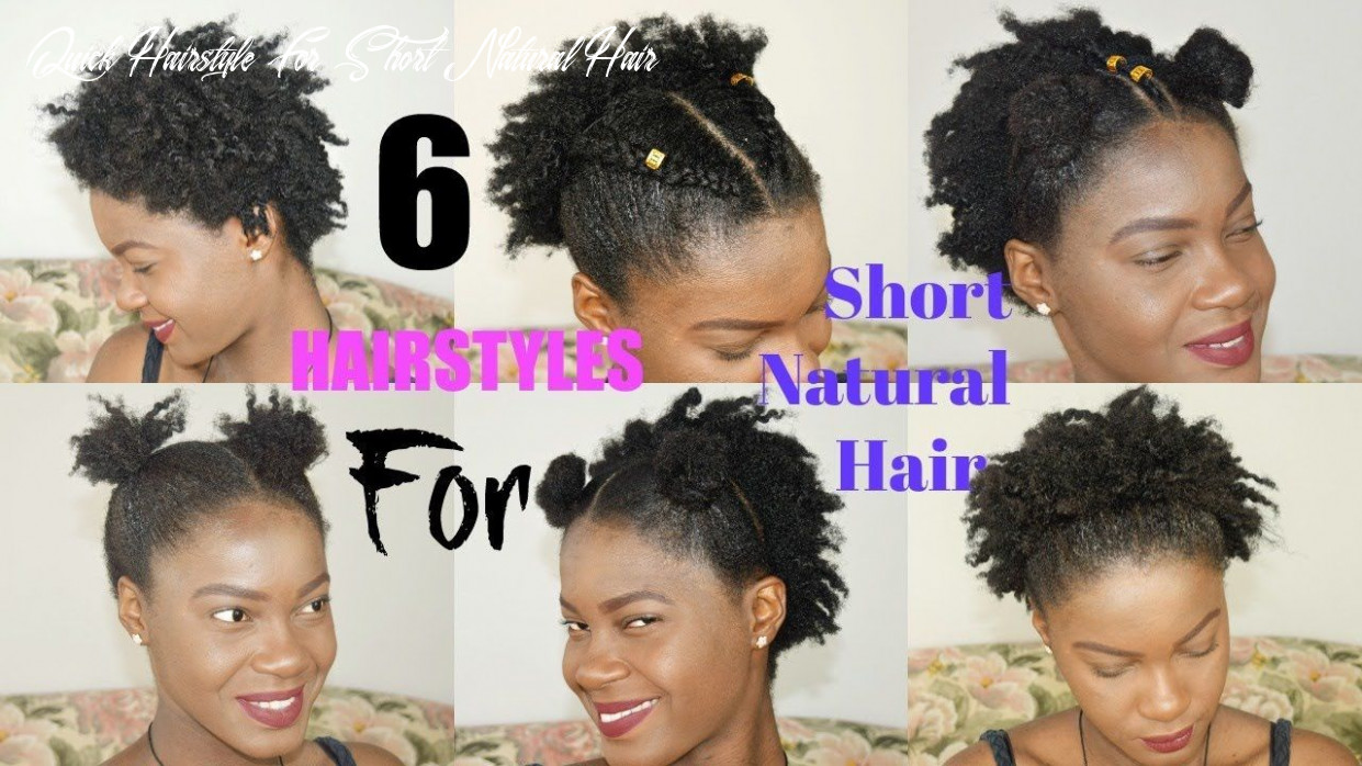 8 quick & easy everyday hairstyles for short natural hair | twa