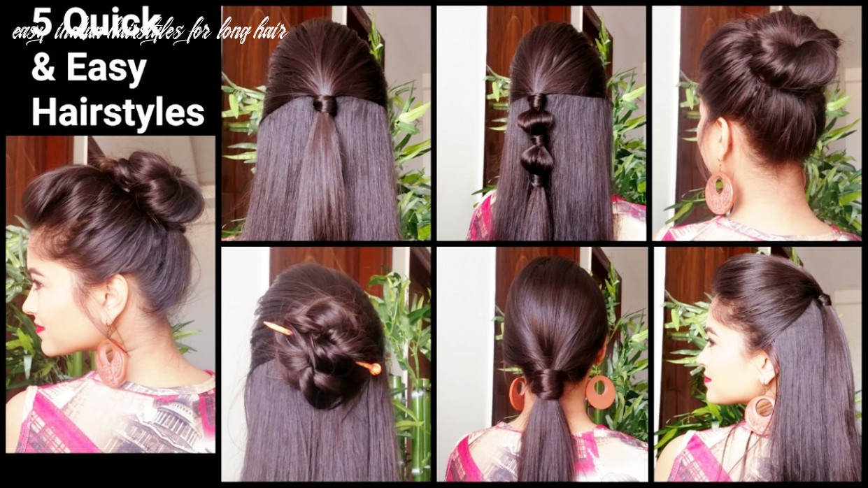 8 quick & easy hairstyles for medium to long hair//back to school hairstyles //indian hairstyles easy indian hairstyles for long hair