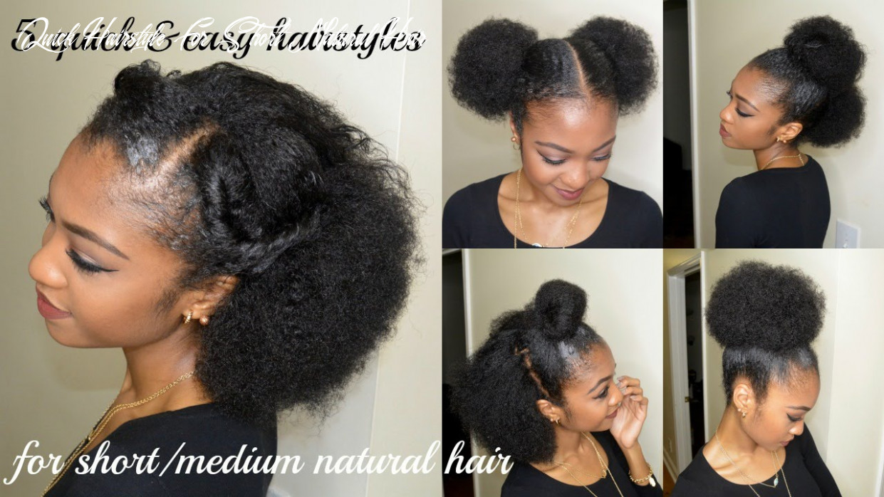 8 quick & easy hairstyles for short/medium natural hair | disisreyrey quick hairstyle for short natural hair