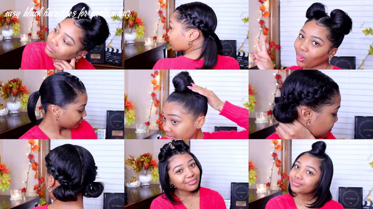 8 quick & easy hairstyles | shoulder length hair! easy black hairstyles for medium hair