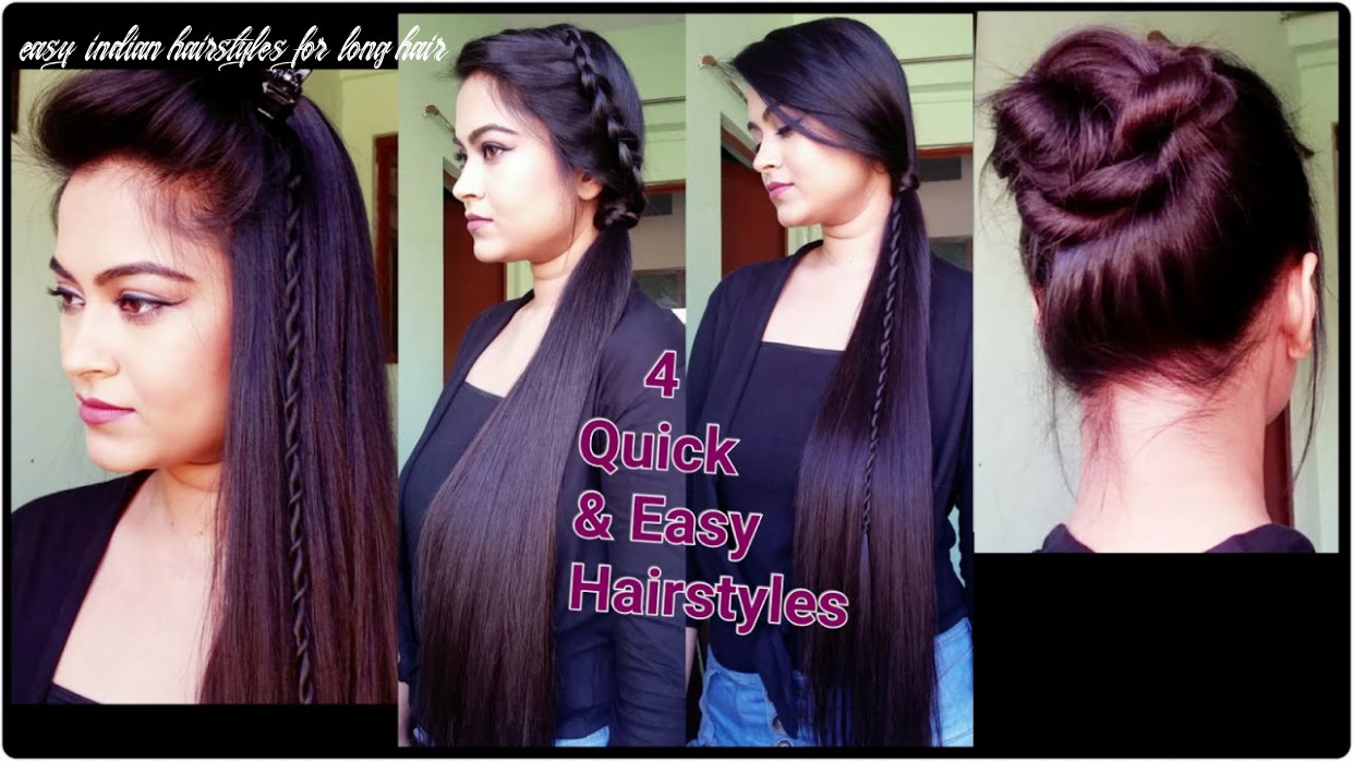 8 quick & easy heatless hairstyles for summer for medium/long hair // indian hairstyles easy indian hairstyles for long hair