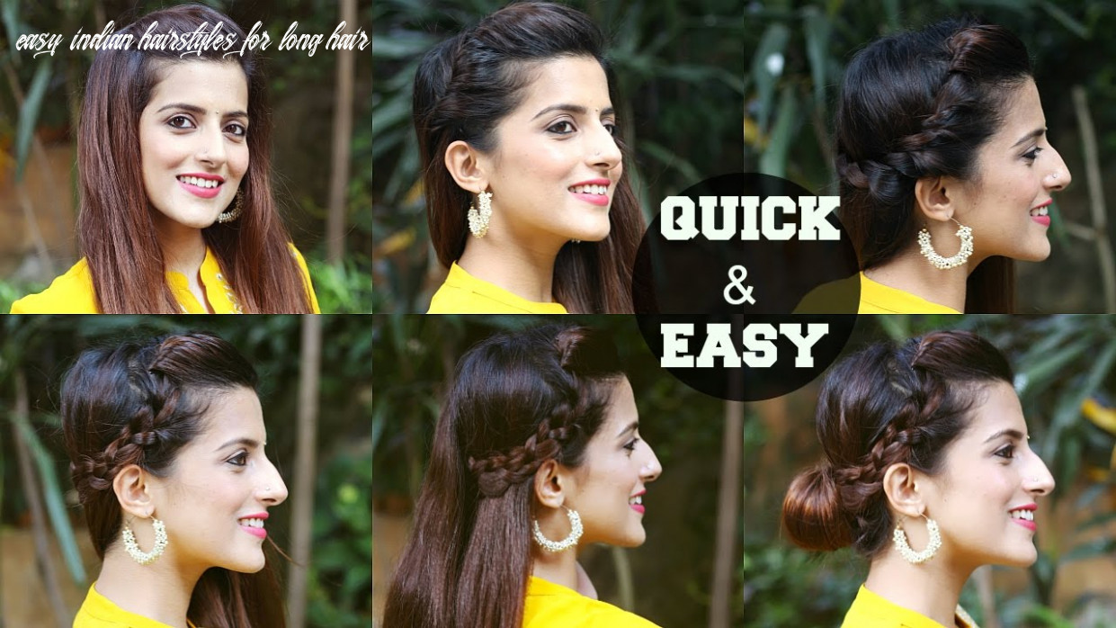 8 quick & easy indian hairstyles for medium to long hair / perfect side hair poof no teasing easy indian hairstyles for long hair