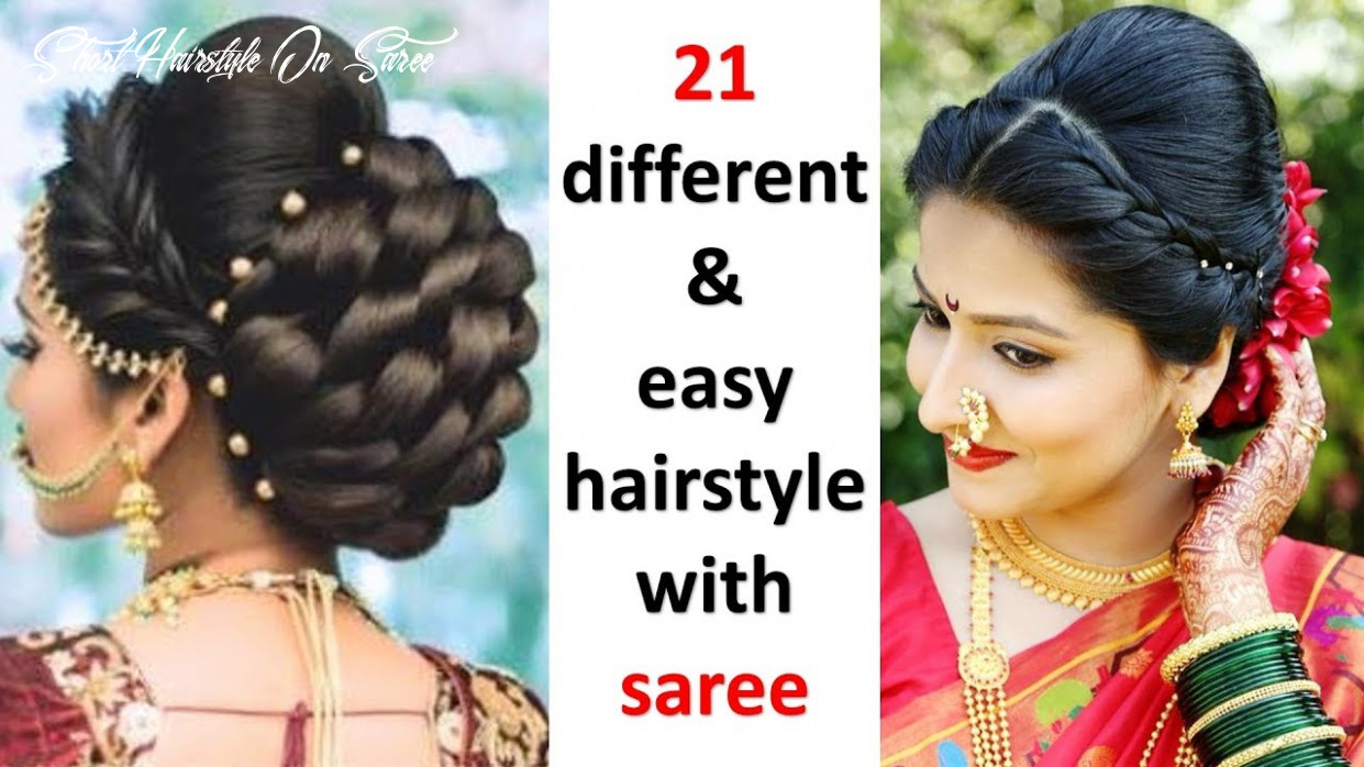 8 quick and different hairstyles with saree || easy hairstyles || try on hairstyles || hairstyle short hairstyle on saree