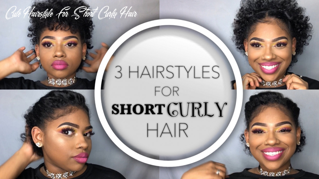 8 Quick and Easy Hairstyles for SHORT Curly Hair   Summer Glam Part 8    Ashley Liani