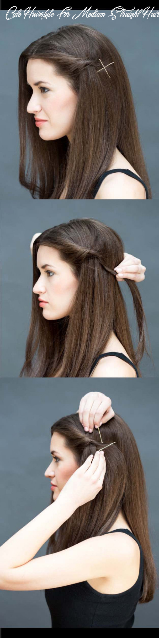 8 quick and easy hairstyles for straight hair the goddess cute hairstyle for medium straight hair