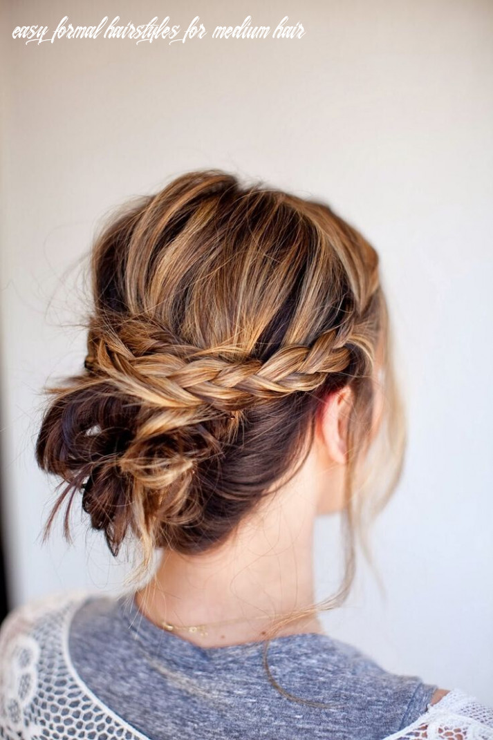 8 Quick and Simple Updo Hairstyles for Medium Hair - PoPular Haircuts