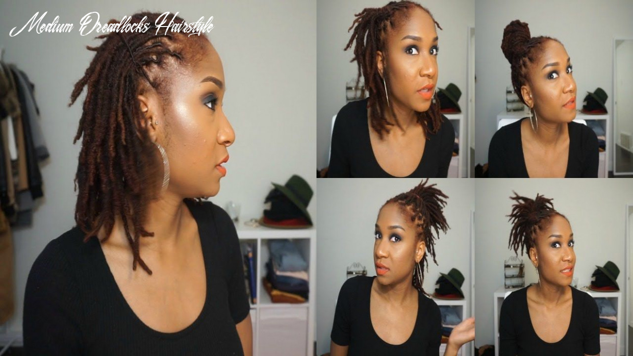 8 quick hairstyles for short/medium dreads | dread hairstyles