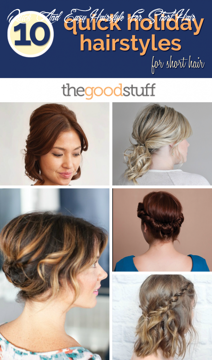 8 quick holiday hairstyles for short hair thegoodstuff quick and easy hairstyle for short hair